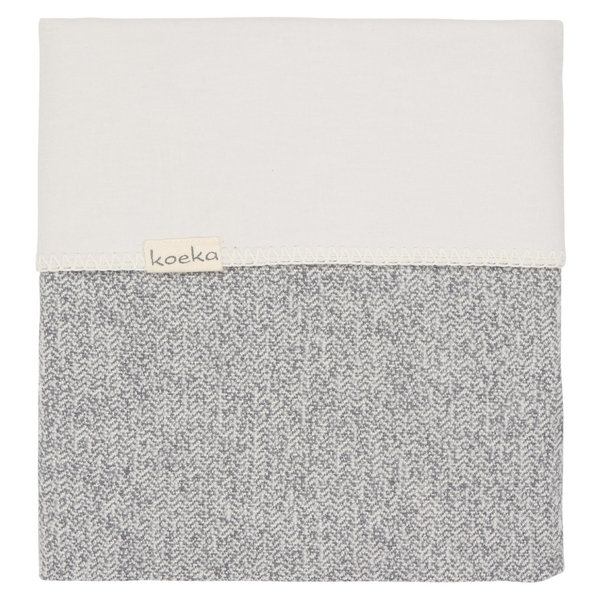 Ledikantdeken Koeka | Vigo | sparkle grey/pebble grey
