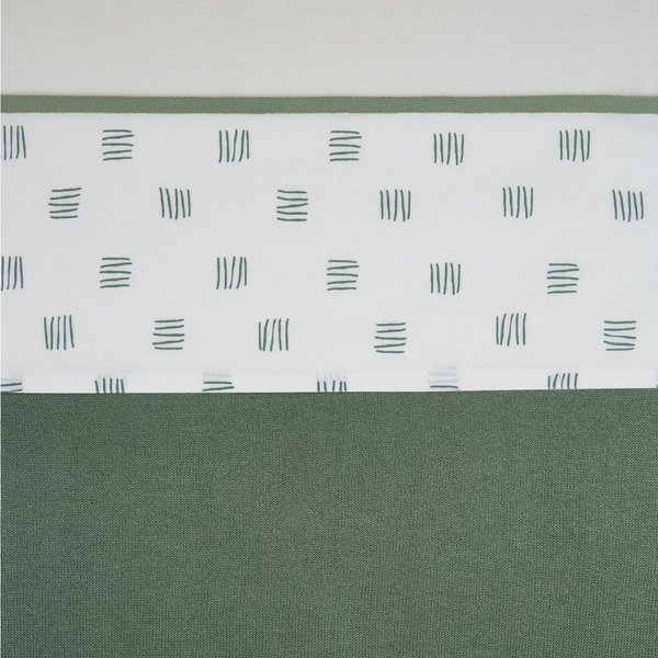 Ledikantlaken Meyco | Block stripe | forest green