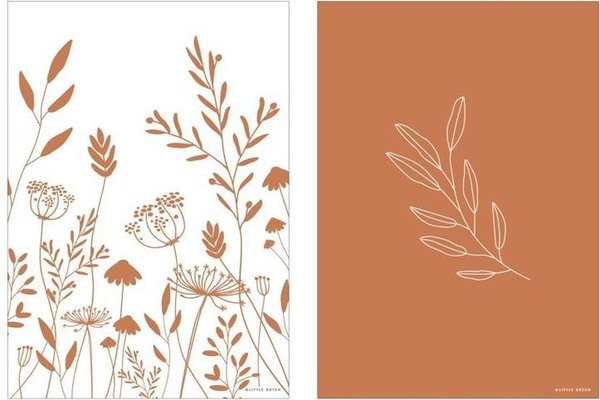 Poster Little Dutch | Wild Flowers | rust